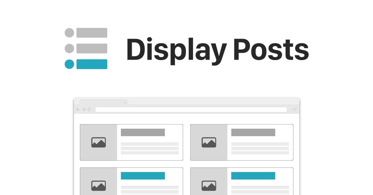 Parameters – Display Posts